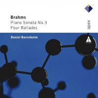 Brahms - Piano sonate №3. Four Ballades (CD)